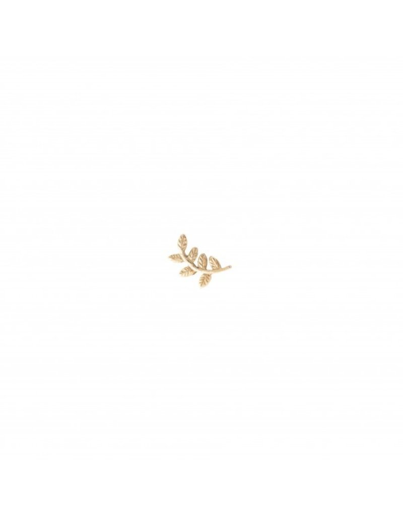 A Beautiful Story Earring 'Olive Branch' Gold