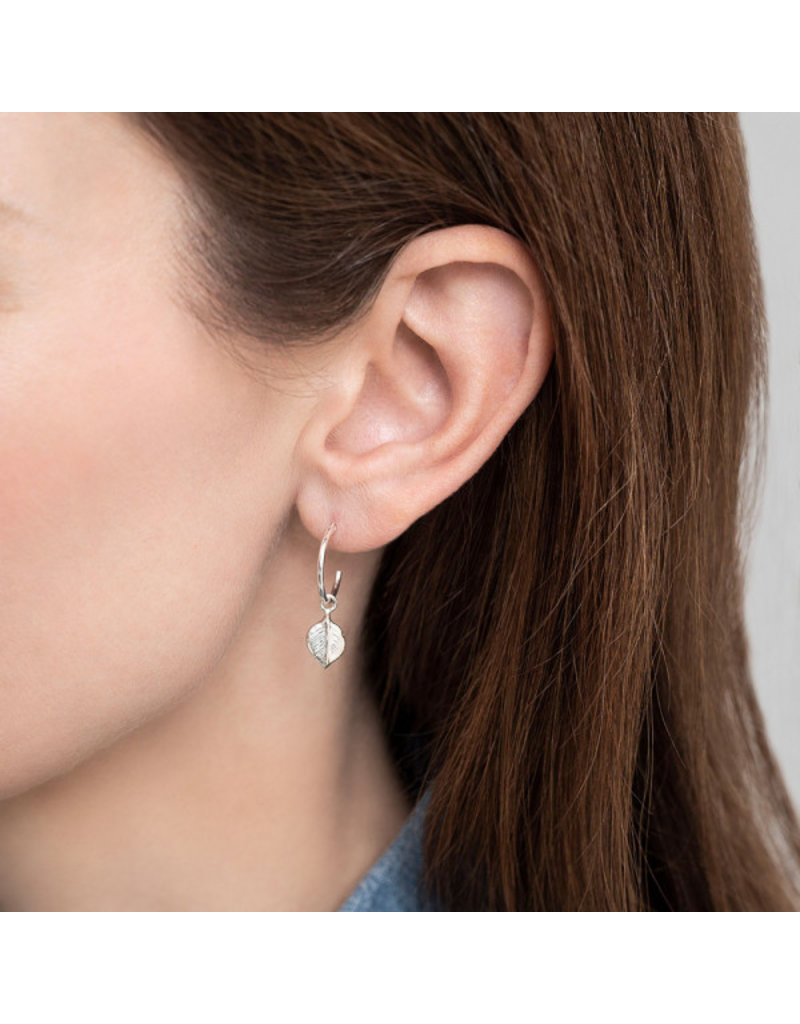 A Beautiful Story Earring 'Leaf' Silver