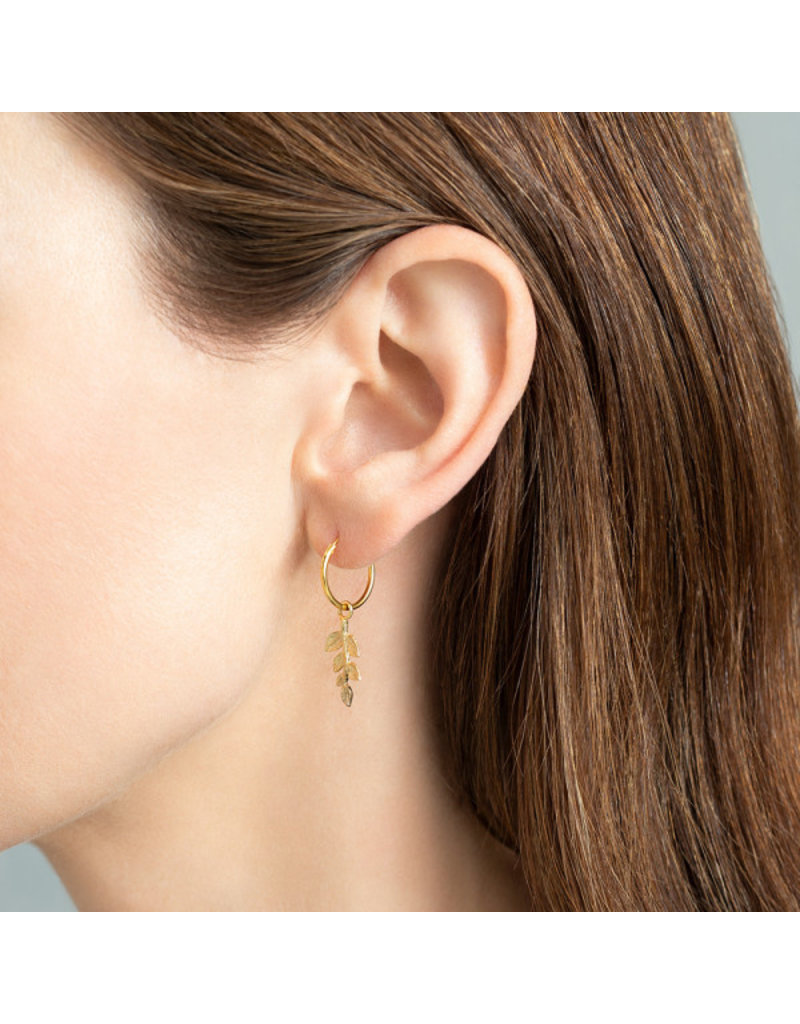 A Beautiful Story Earring 'Olive Branche' Gold