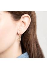 A Beautiful Story Earring 'Swallow+Labradorite' Gold