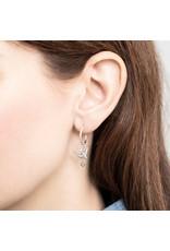 A Beautiful Story Earring 'Swallow+Labradorite' Silver
