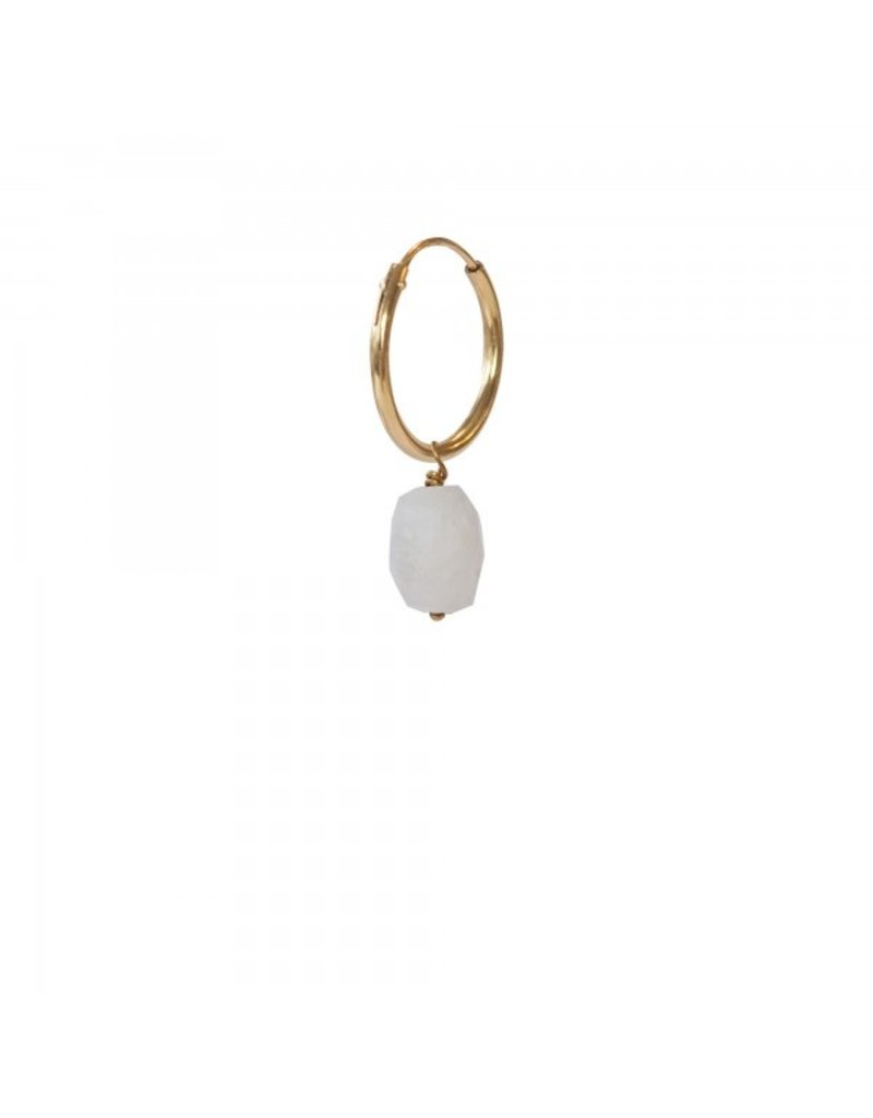 A Beautiful Story Earring 'Moonstone' Gold