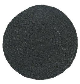 IBLaursen Jute placemat zwart