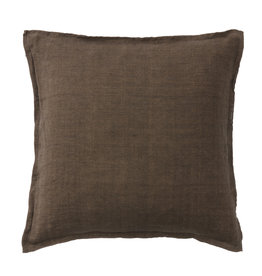 Bungalow soft  linnen kussenhoes 50x50cm chocolate