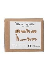 Bloomingville blokken dieren beukenhout