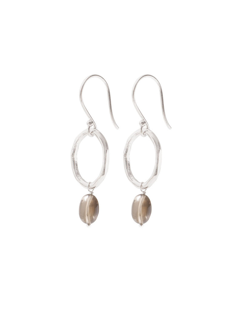 A Beautiful Story Earrings Gemstone 'Smokey Quartz'