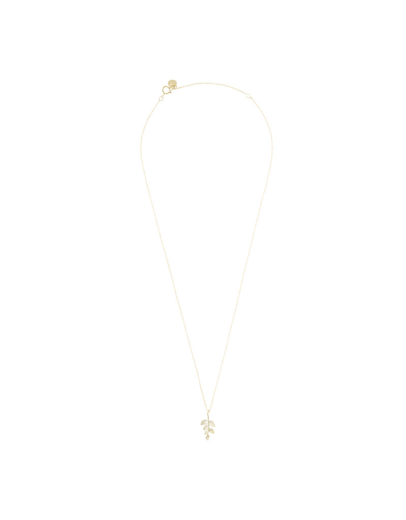A Beautiful Story Necklace 'Olive Branch' Gold