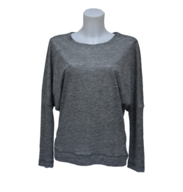 Stef-I BAT-sleeve top grey linnen