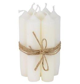 IBLaursen set korte kaarsen wit