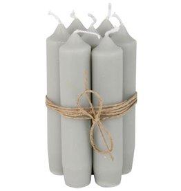IBLaursen set korte kaarsen licht grijs