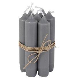 IBLaursen set korte kaarsen antraciet