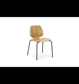 Normann Copenhagen Stoel 'My Chair Black Steel & Oak'