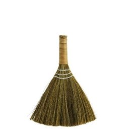 Madam Stoltz Natural and Black Straw Broom with Nylon Ribbon
