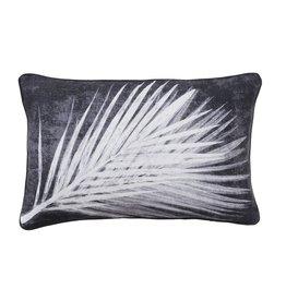 Pernille Folcarelli Cushion 'Palm Dark' - Linen