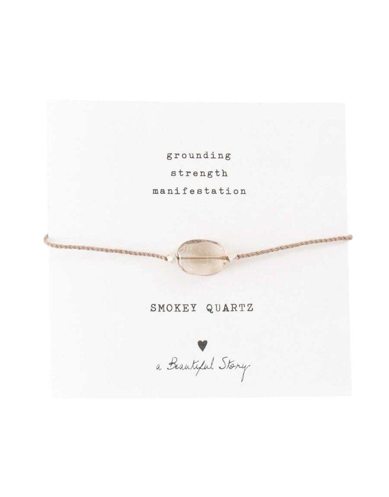 A Beautiful Story Armband - Smokey Quartz