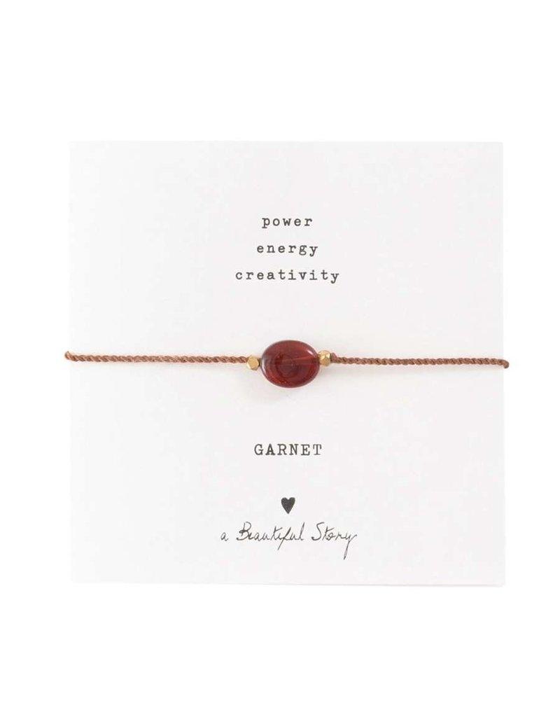 A Beautiful Story Armband - Garnet
