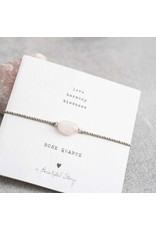 A Beautiful Story Bracelet - Rose Quartz