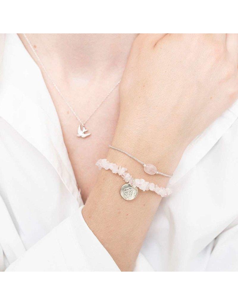 A Beautiful Story Armband - Rose Quartz