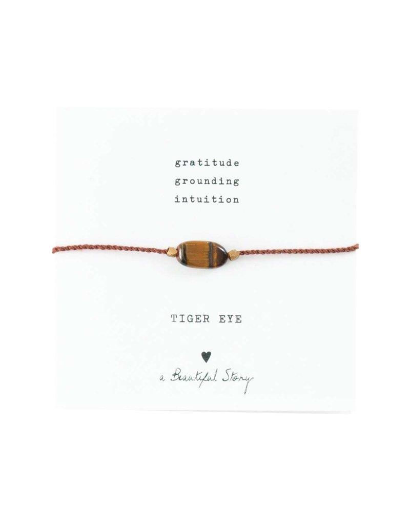 A Beautiful Story Bracelet - Tiger Eye