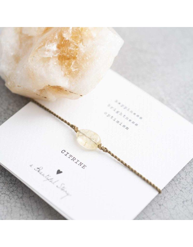 A Beautiful Story Bracelet - Citrine