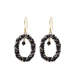A Beautiful Story Earrings 'Faith' - Black Onyx