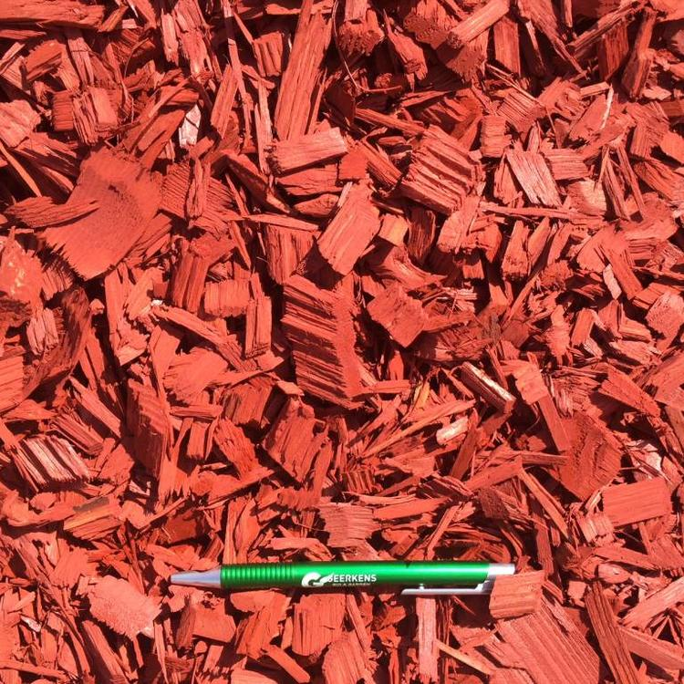 Eurocompost garden products Colored Chips Rood in Big bag 1m³