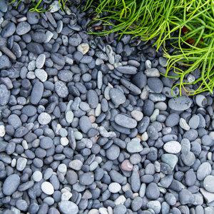 Eurocompost Garden Products Beach Pebbles 8/16  Black Mini Bag 575Kg