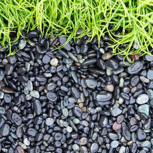 Eurocompost Garden Products Beach Pebbles 8/16 Black Per Ton