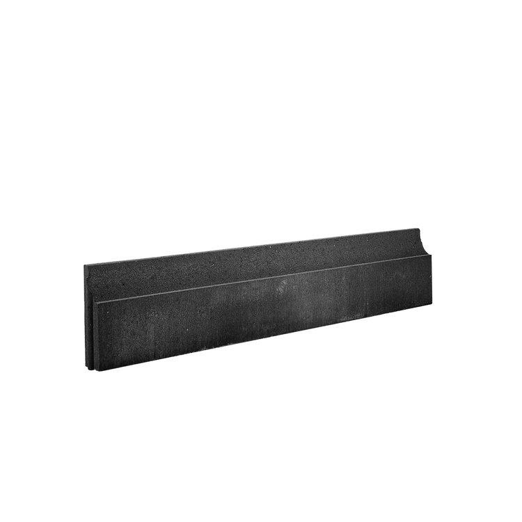 COECK COECK Boordsteen fijne bovenzijde 100x20x6cm zwart