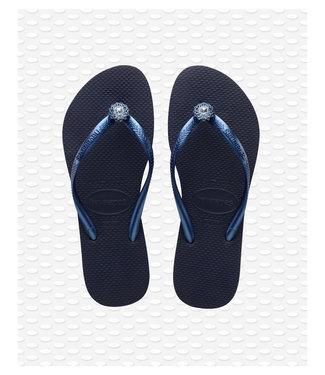 HAVAIANAS havaianas crystal poem navy slipper