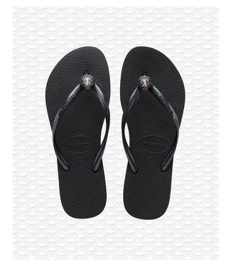 HAVAIANAS havaianas crystal poem black slipper