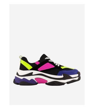 NIKKIE Nikkie chunky sneaker N 9-832 2001 black/fluo lime green 2 lime 3152