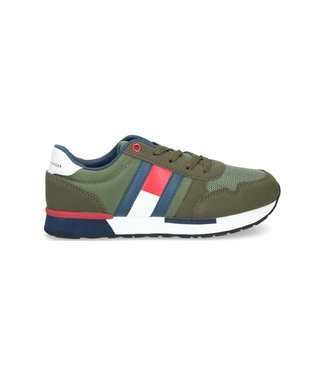 TOMMY HILFIGER Tommy Hilfiger Low Cut jongenssneaker 30482 military green