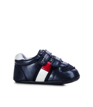 TOMMY HILFIGER Tommy Hilfiger Velcro baby sneaker 30191 Blue/White