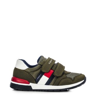 TOMMY HILFIGER Tomy Hilfiger Low Cut jongens sneaker 30481 Military Green
