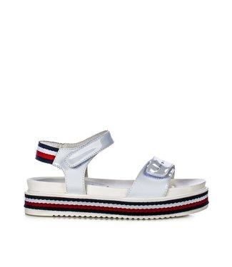 TOMMY HILFIGER Tommy Hilfiger Platform Velcro meisjes sandaal 30650 White