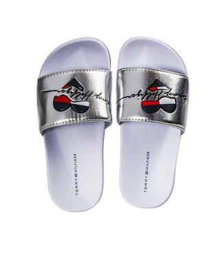 TOMMY HILFIGER Tommy Hilfiger Heart Print sandaal meisjes Silver T3A0-30677-0632904