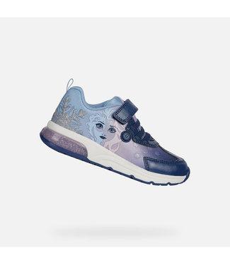 GEOX Geox Kids Frozen Elsa sneaker Navy/Liac J Spaceclub J028VD