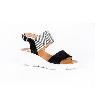 GOSH gosh sleehak sandaal zwart/wit 052.634GO