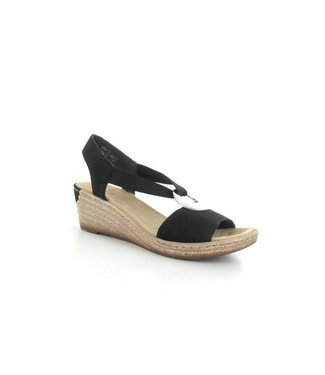 RIEKER rieker sleehak sandaal zwart 624H6-00