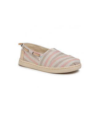 TOMS toms youth bimini stripe salmon woven trim synthetic