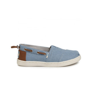 TOMS toms youth bimini navy denim synthetic trim