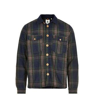 ANERKJENDT Anerkjendt Aklion wool check overshirt pine grove 9520961