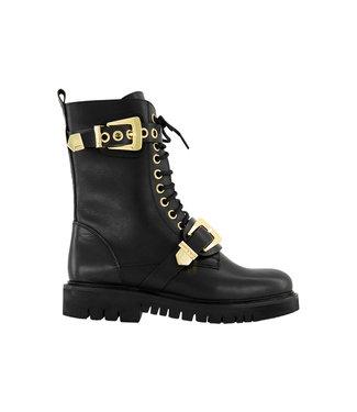 NIKKIE Nikkie Dua Buckle Boots black/gold N 9-334 2005