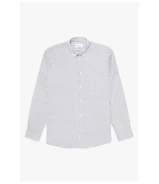 WOODBIRD Woodbird fling stripe shirt 2036-705 white