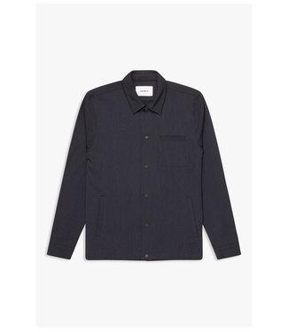 WOODBIRD Woodbird brenti plin shirt 2036-720 navy-white