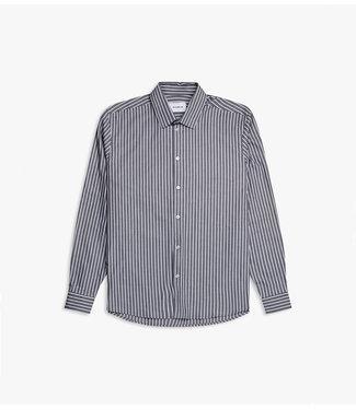 WOODBIRD woodbird time stripe shirt grey white 2036-719
