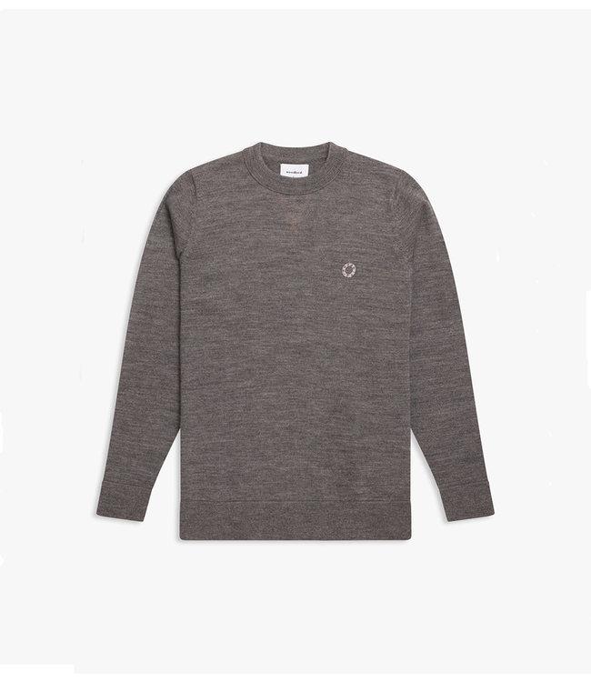 WOODBIRD Woodbird mehlin knit 2036-800 grey