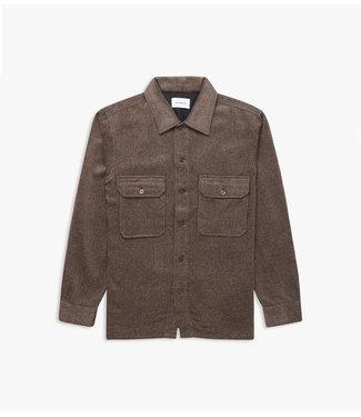 WOODBIRD Woordbird Glixto Wool Shirt 2036-723 BROWN