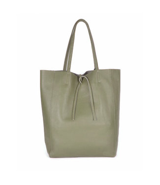 GIULIANO Giuliano leren shopper forrest green 552243
